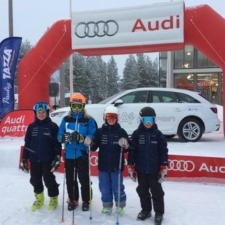 Noor mäesuusataja Aleksander Luik võitis Audi Cupil ülisuurslaalomi!