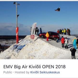 Big Air EMV 17.02.2018 Kiviõlis - tähtis info!