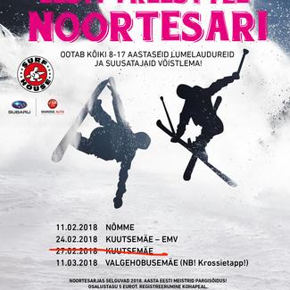 Eesti freestyle noortesarja II etapp lükkub edasi