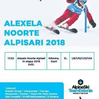 Alexela Noorte Alpisari jätkub 17.02.2018 Nõmmel!