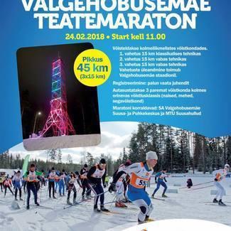 Eesti100 Valgehobusemäe teatemaraton 24.02.2018