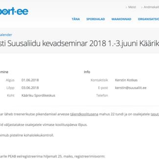 Kevadseminar 1.-3.06 Käärikul - ajakava muutus!