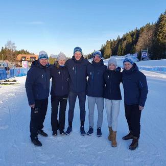 Johanna Udras on Lausanne'i noorte taliolümpia lõputseremoonial Eesti delegatsiooni lipukandja