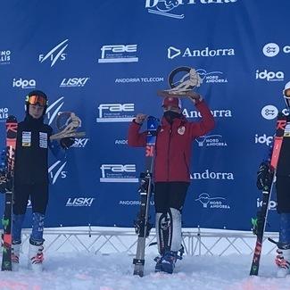 Mäesuusatamise noortekoondis hoidis Andorras Eesti lippu kõrgel