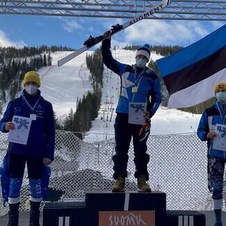 Mäesuusatamise Eesti meistrivõistlused Suomutunturil algasid suurslaalomi võistlusega