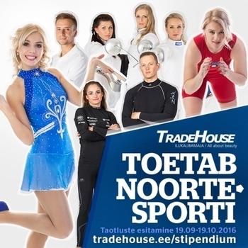 Tradehouse noorsportlase stipendiumi taotlusvoor on avatud